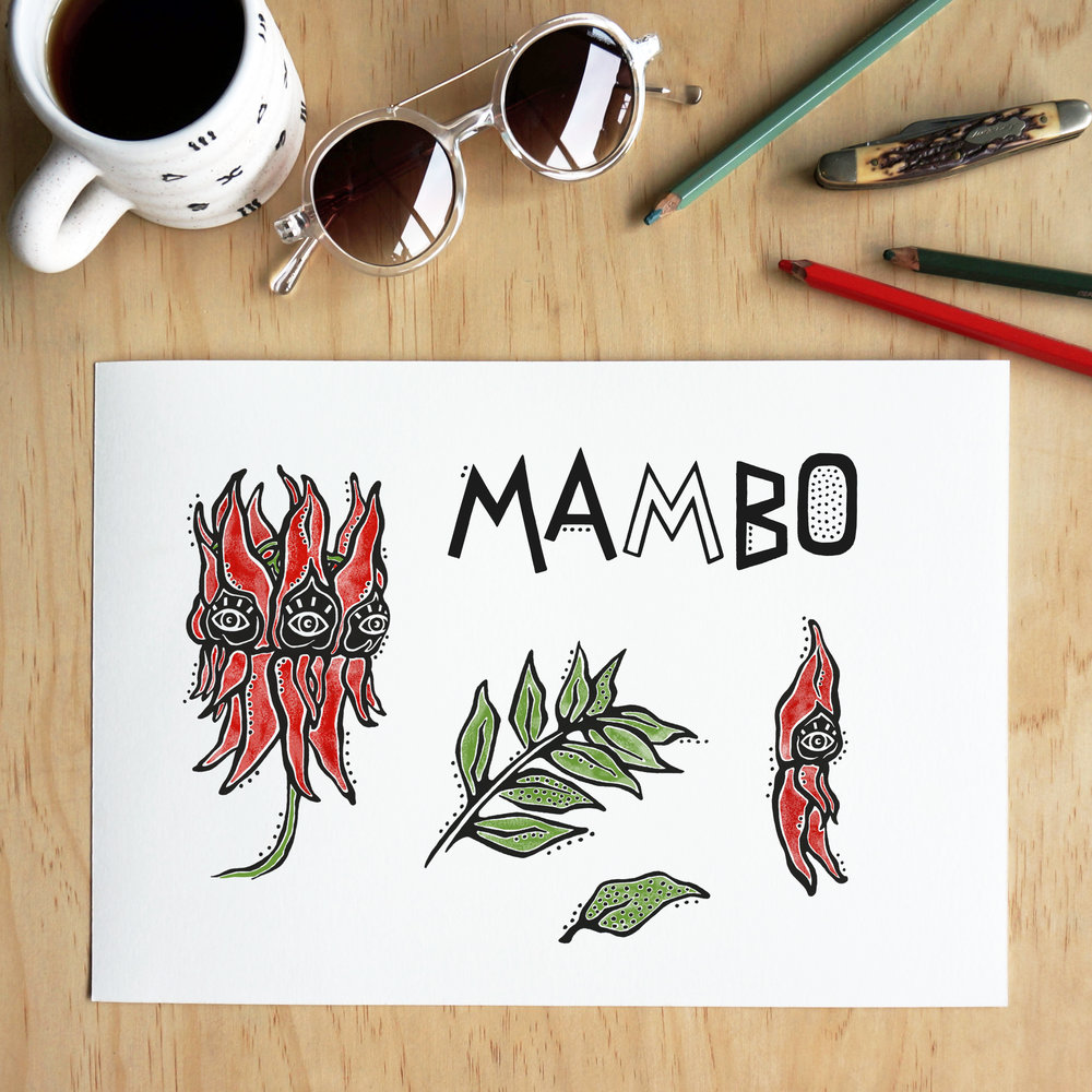 Original artwork by Lauren Webster for Mambo