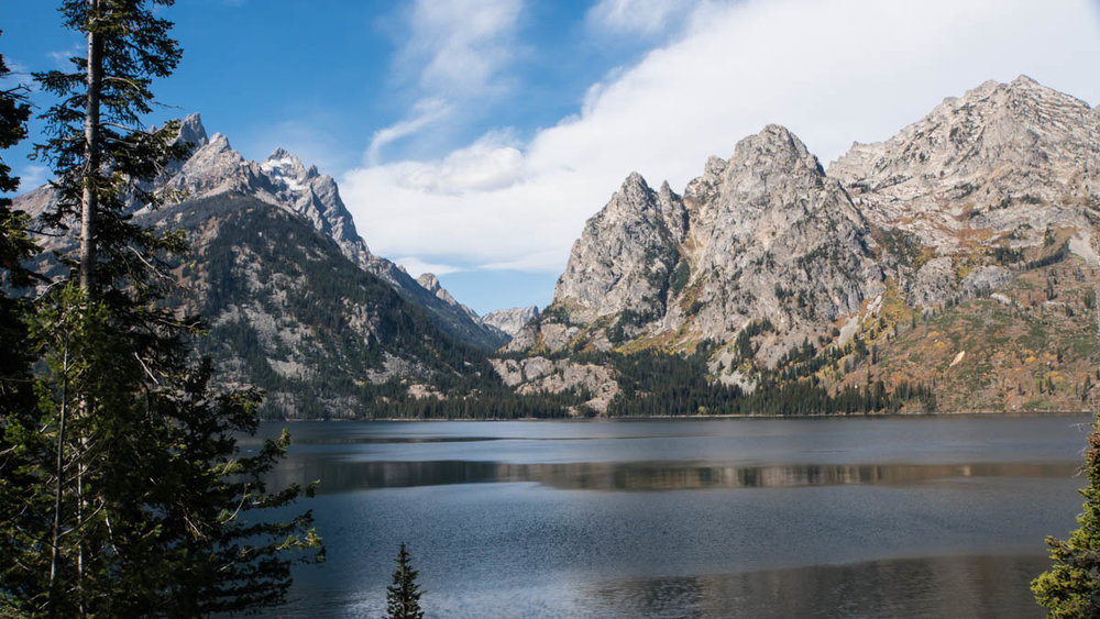 Lake Jenny , at the foot of Cascade Canyon.
