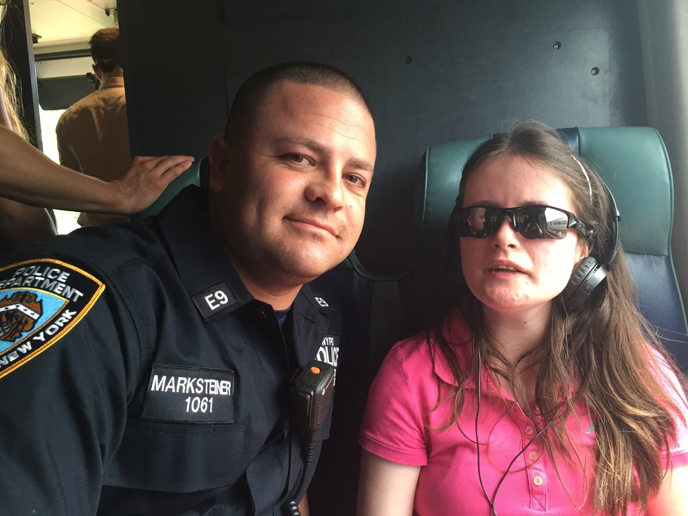 Bryan and Emily (in magic sunglasses).