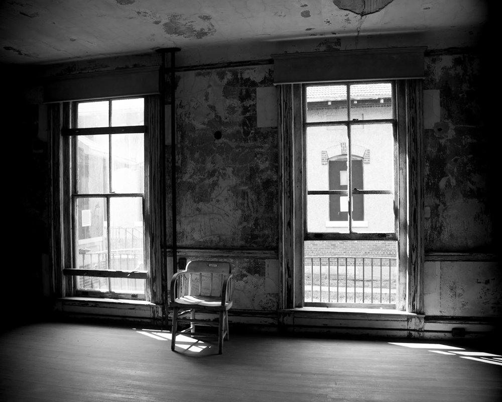 Interior, home on the grounds of Ellis Island Immigrants' Hospital.