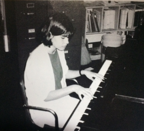 From an 8th grade yearbook talent competition photo.  There was a time in my life where I couldn't imagine not playing piano every day.  I can't remember the last time I played.  I have a full sized keyboard in my office with sustain pedal.