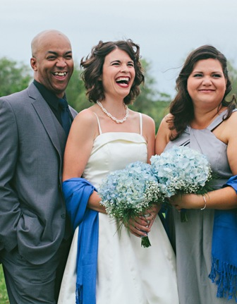 Man of Honor Charles, Bride me, Maid of Honor Natasha.   Photo by Chanterelle Photography, cropping by me.
