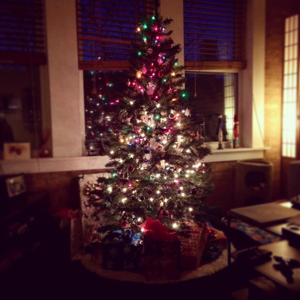 The holidays! They're just crazy no matter what you celebrate. But here's my Christmas tree.
