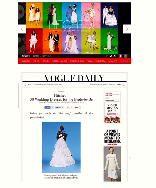 Vogue Daily Article - Featured through the month of June 2014 on Vogue.com as a up and coming floral designer. lulamoss floral crown featured.
