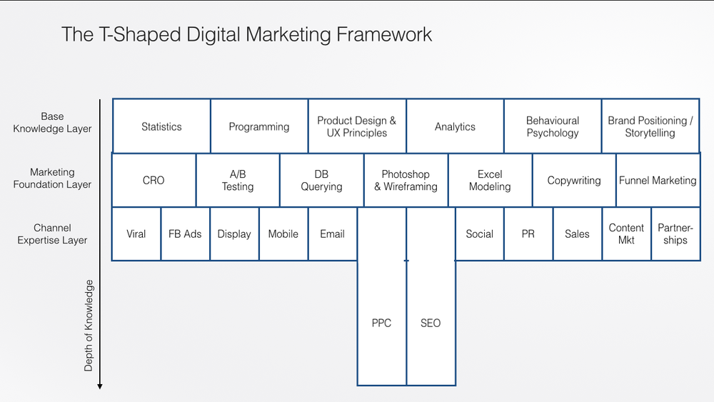 T-Shape Digital Marketing Framework; With a Paid Search Specialisation.