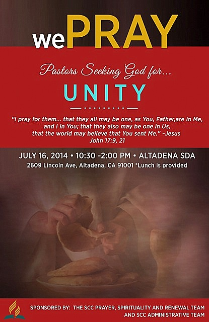 SCC pray for unity on July 16th, at the Altadena SDA Church