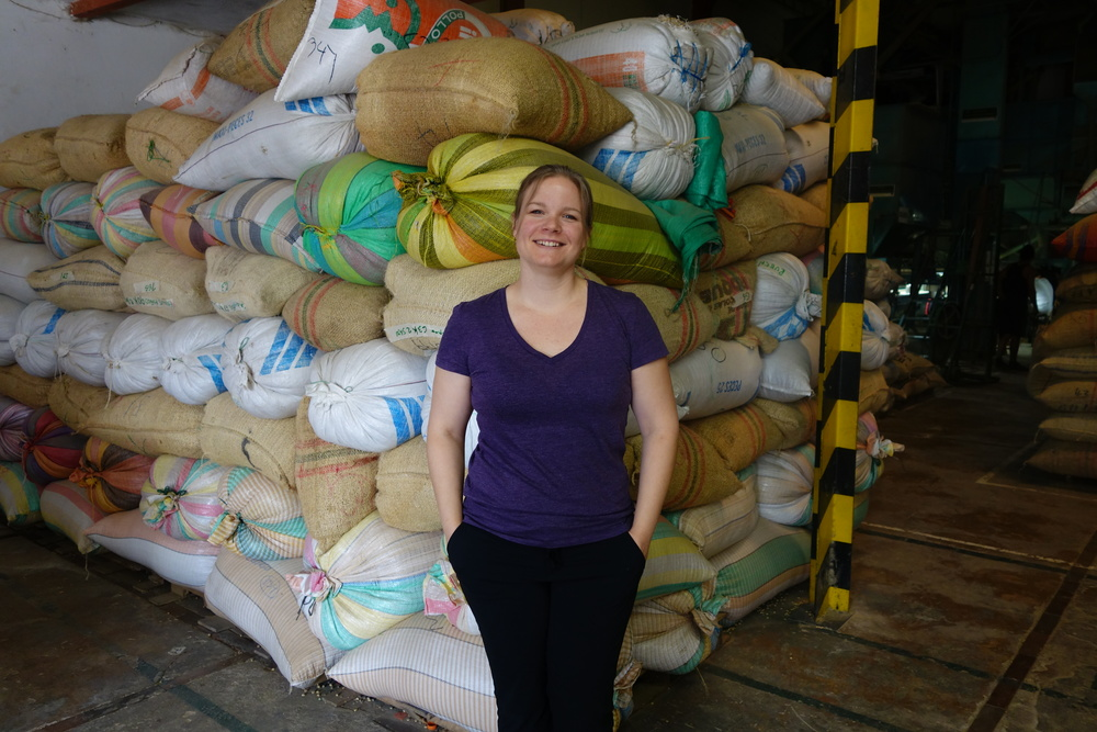 More coffee bags! Banexport dry mill, Pitalito, Huila Department, Colombia