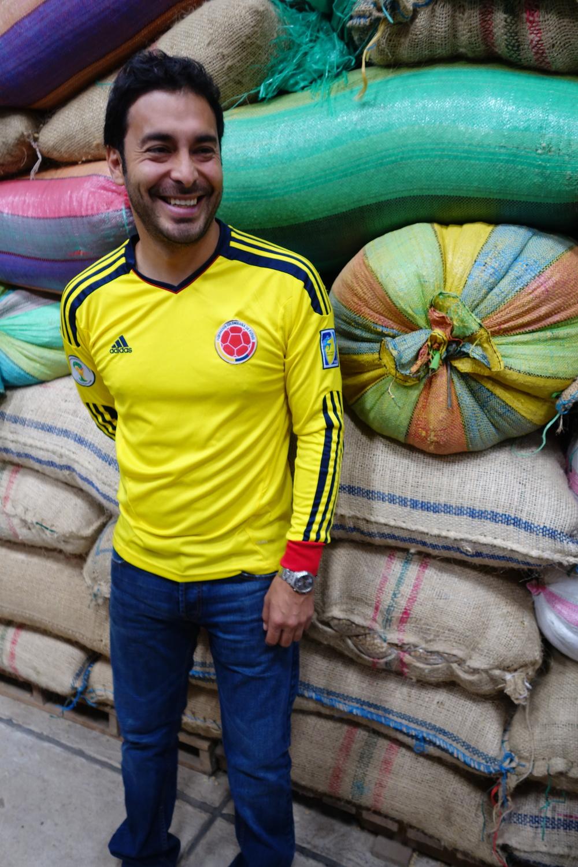 Jairo Ruiz of Banexport in hisdry mill in Popayan, Cauca department, Colombia