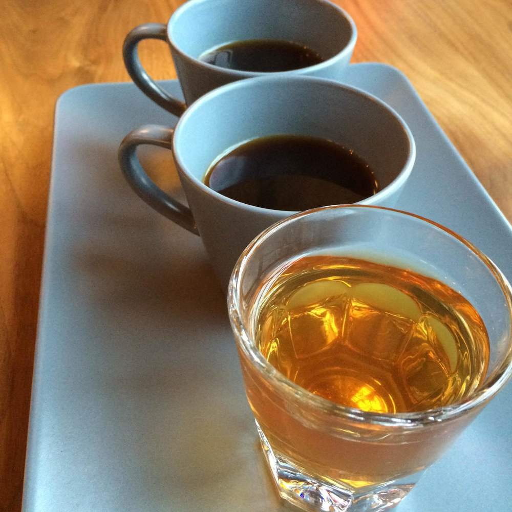 Pacamara tasting flight.  Photo: Rachel Emery