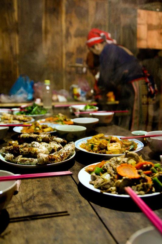 Homestay feast – Ta Phin, Vietnam