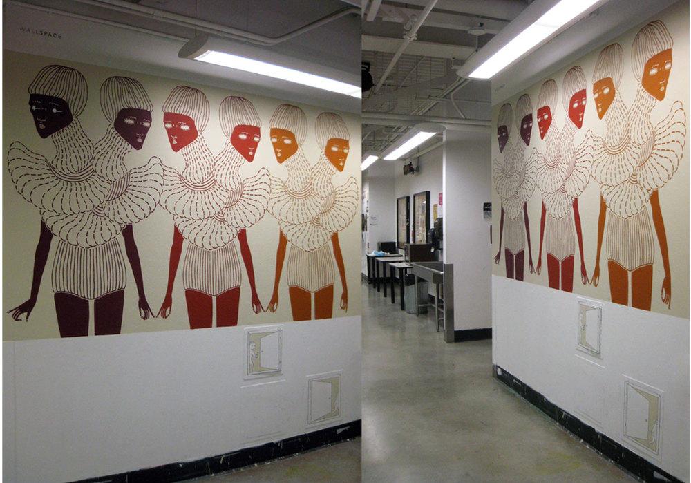 Anjo Chiang - Split Neck - OCAD Wallspace Mural 1