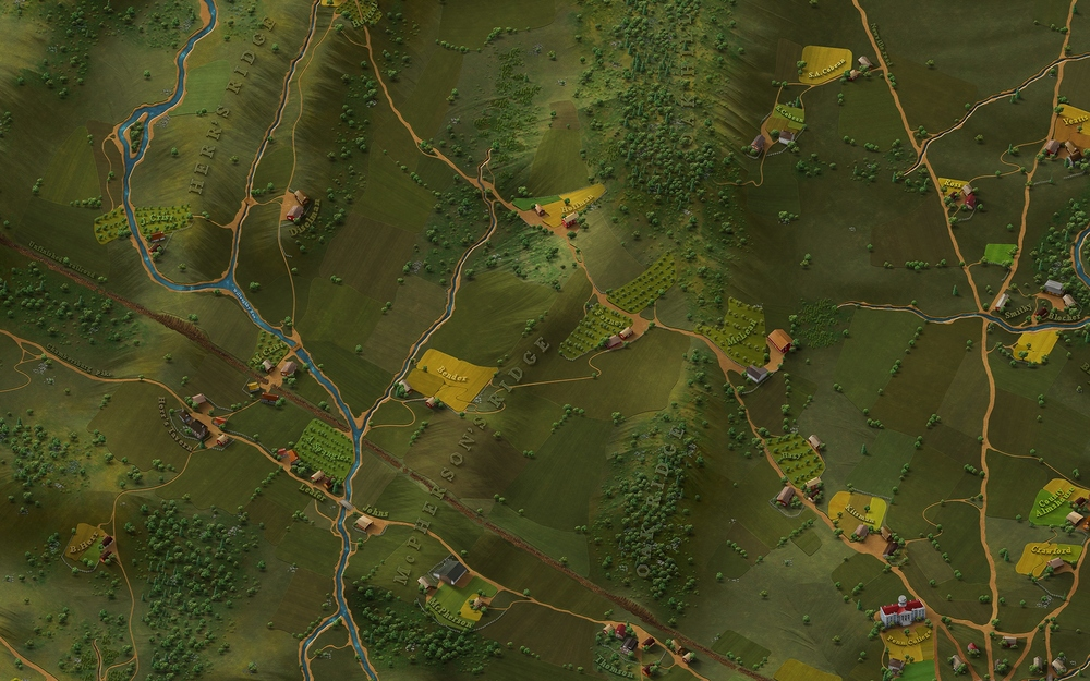 First look of Ultimate General: Gettysburg map