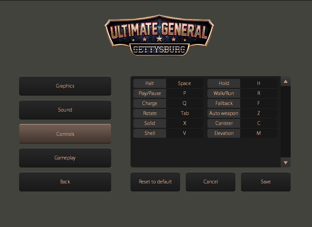 Several unit command controls have key shortcuts which you can re-assign from the settings. We added the much anticipated Rotation key command. By default you use the TAB button.