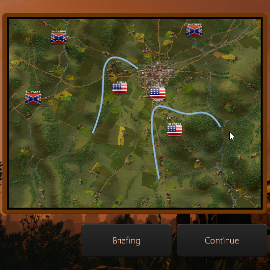 In the non-linear battle campaign you can plan what will be your next strategic move.