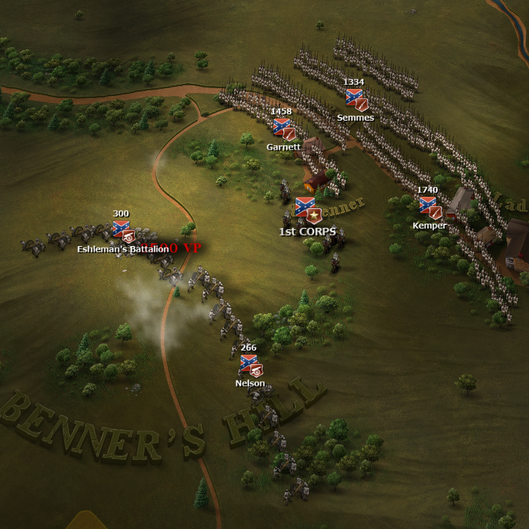 Hills are strategically important. They provide increased line of sight, projectile range and morale bonus.