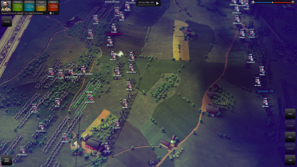 A special version of Pickett's Charge scenario is now available in multiplayer and as a custom battle.