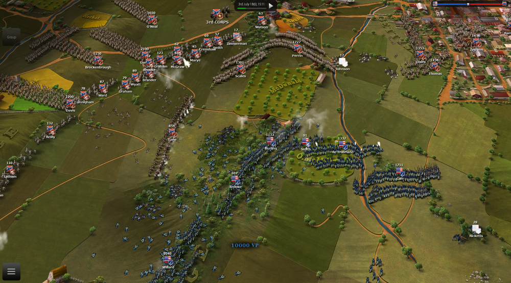 AI can concentrate firepower on one point of attack to gain superiority as in this image