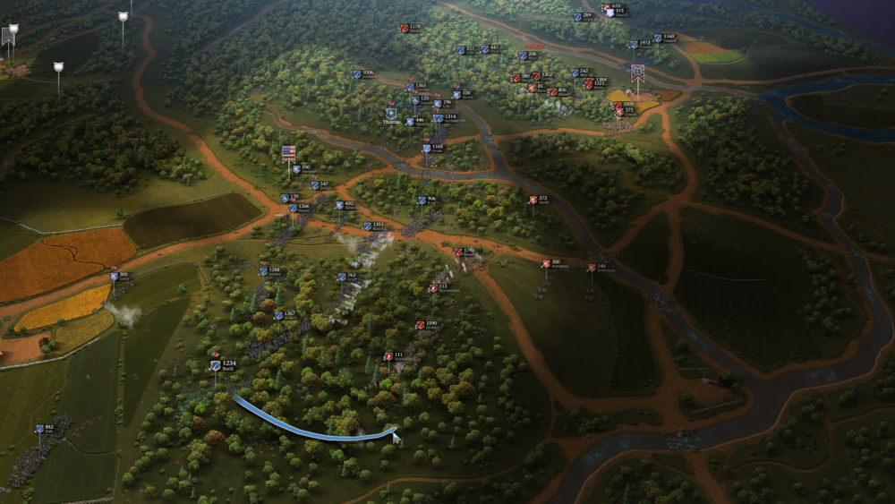 Attempting to break the CSA right flank
