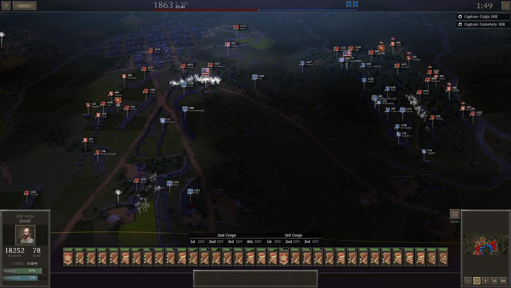 "The new custom battle ""CULP'S HILL"""