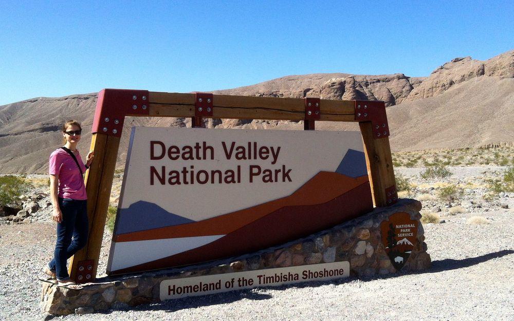 Am Eingang zum Death Valley Nationalpark, Etappenziel vor Las Vegas.