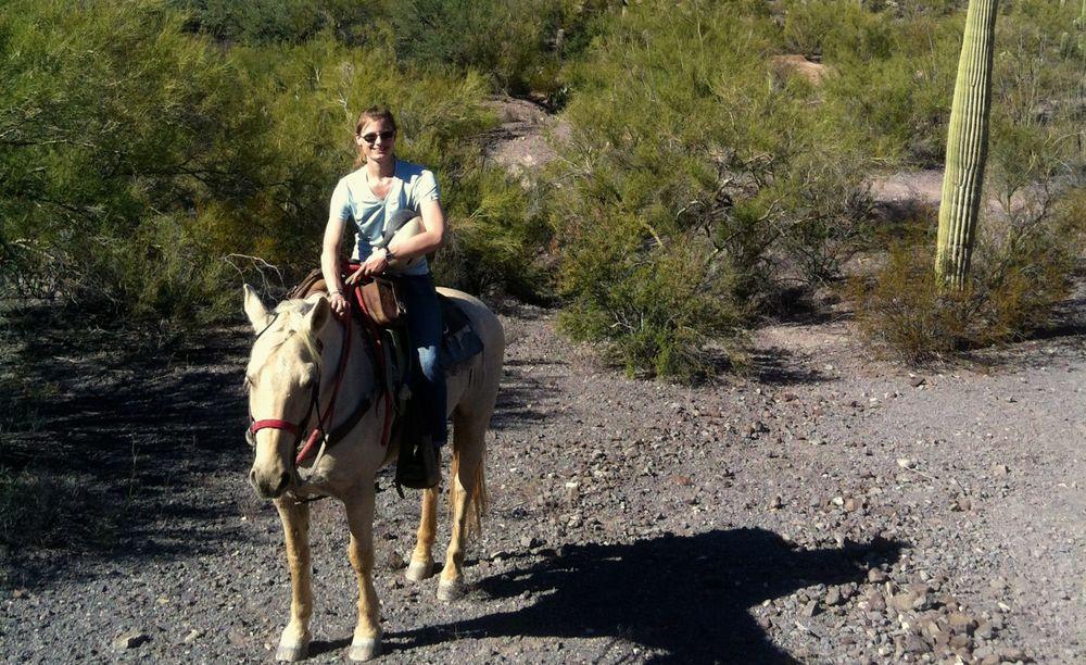 Auf einem Ausritt auf Trigger, dem Pferd das mir für meinen Aufenthalt zugeteilt wurde.