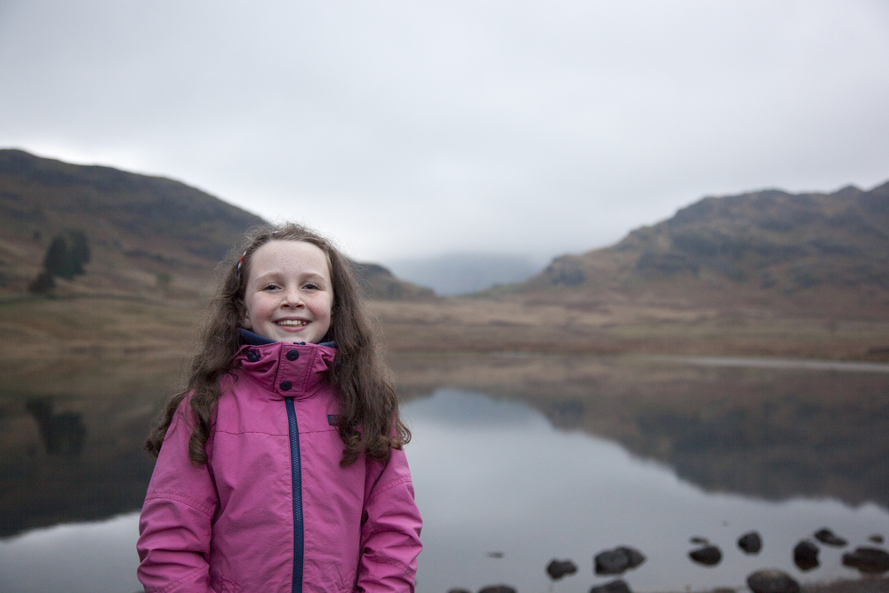 Lola, posing in front of the magical Blea Tarn in the Lake District