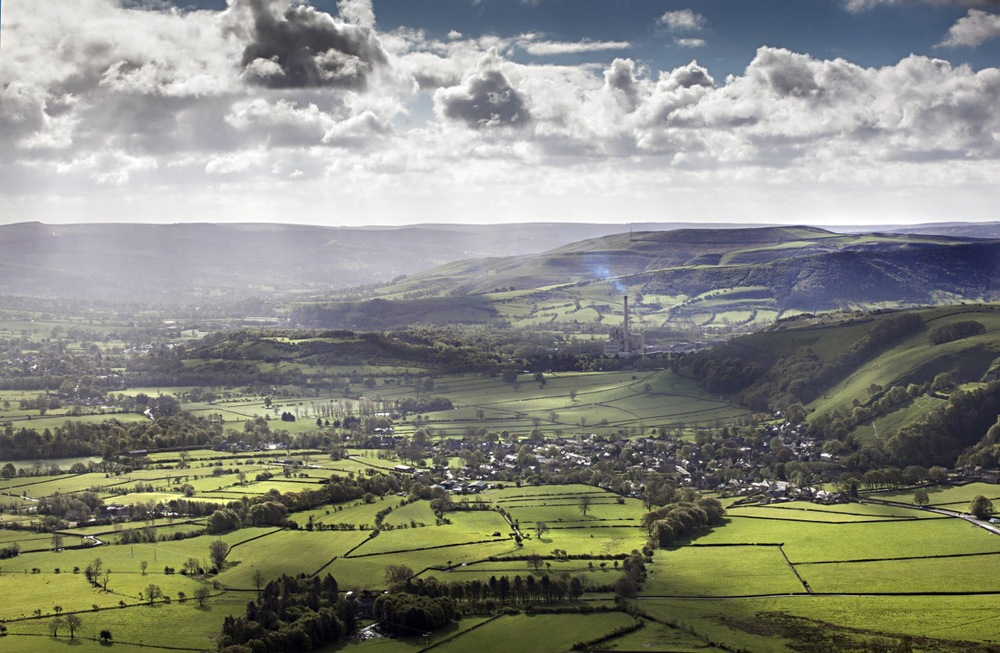 1. Just off the summit of Mam Tor - a view of Castleton in Hope Valley
