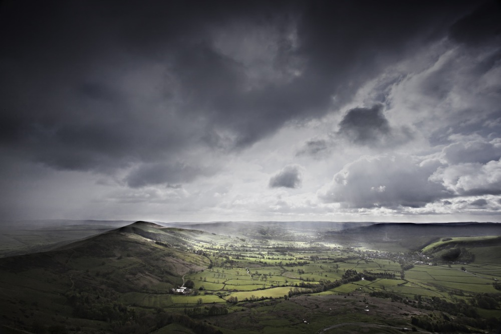 4. My favourite shot showing the full panoramic of Hope Valley from Castleton to the Great Ridge as the sun burst through the clouds.