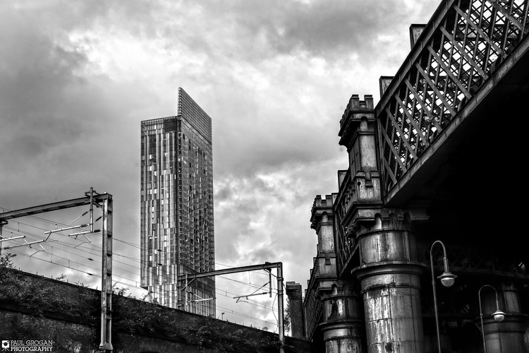 Beetham tower and castlefield viaduct manchester