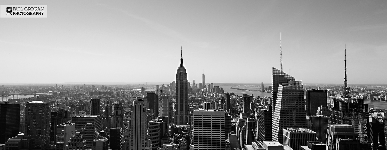 panoramic canvas print of new york city skyline
