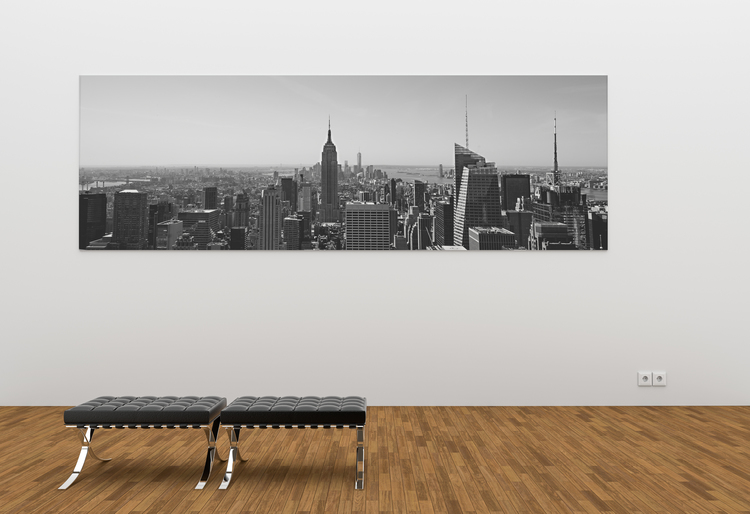 panoramic canvas print of new york city skyline