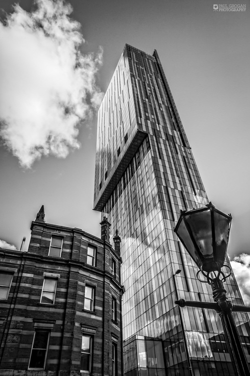 Beetham tower manchester black white photographic print