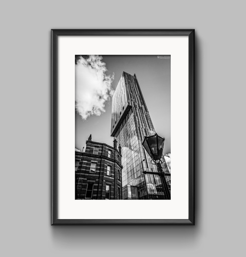 Beetham Tower, Manchester. Black & White Photographic Print.