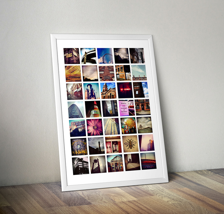 My Manchester urban landscapes poster features 35 small photos of small details spotted whilst walking round the city.