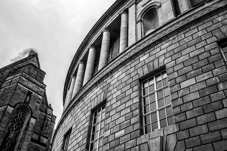 Central library manchester black and white landscape photograph
