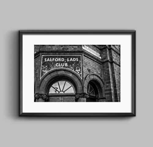 Salford Lads Club Urban Black And White Photograph