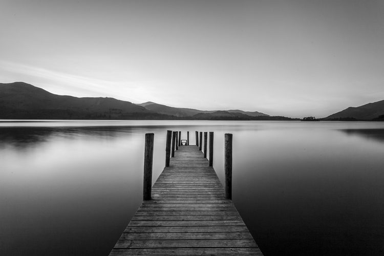 Ashness jetty derwentwater lake district print