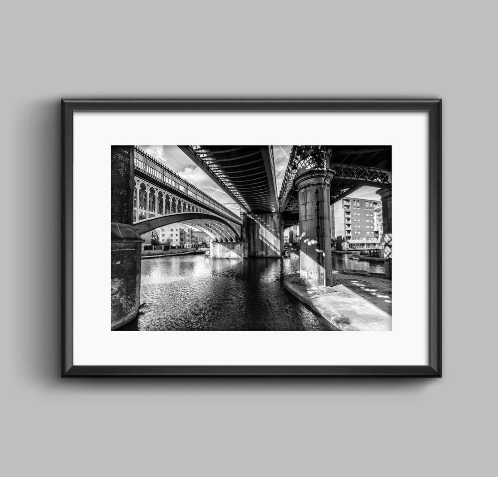 Castlefield Convergence, Manchester Black and White Landscape Photograph
