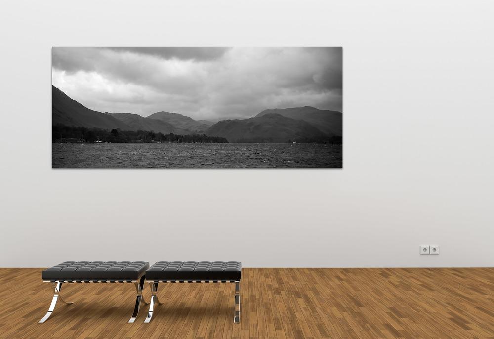 Ullswater & Hallin Fell, Panoramic Landscape Canvas Print