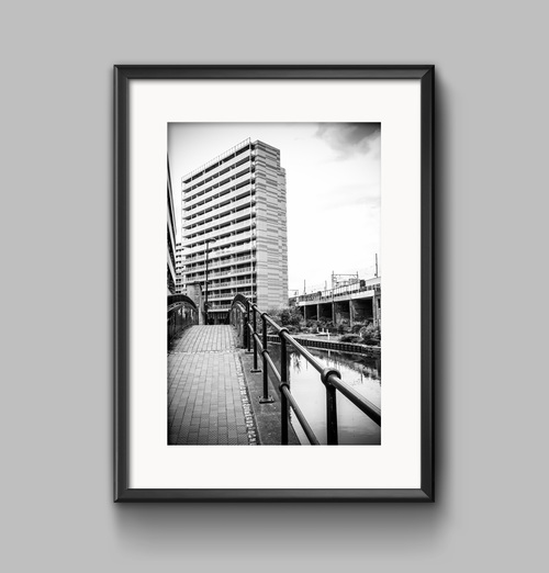 New manchester urban black and white landscape