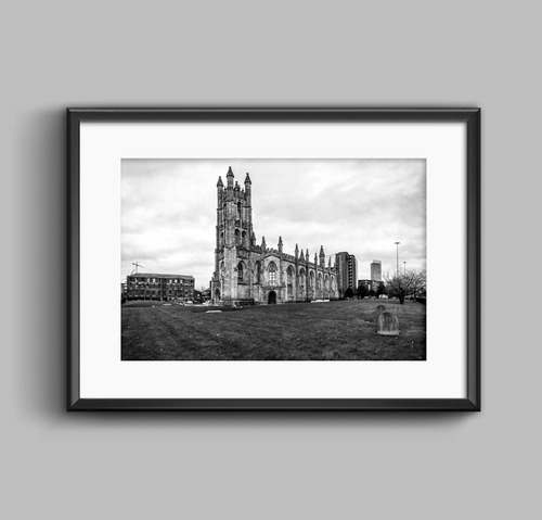St George\'s Church, Manchester. Black & White Photography