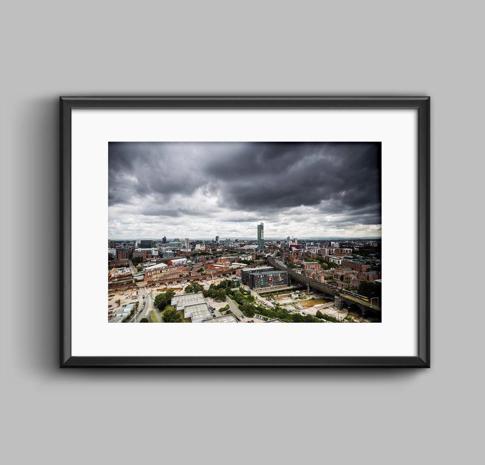 Developing Manchester Urban Landscape Skyline Photograph