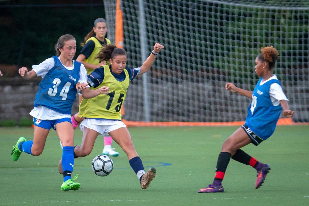tackle 7v7 soccer player girls camp