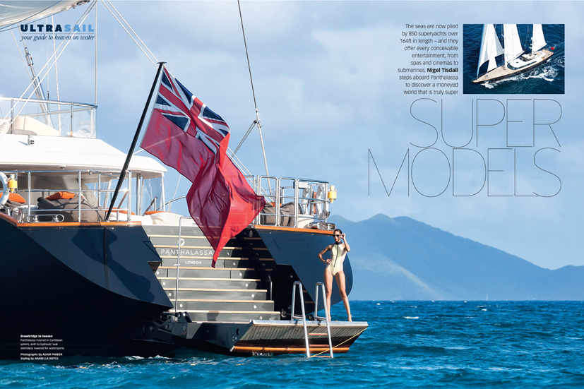 Y.C.O's super yacht Panthalassa in Anguilla