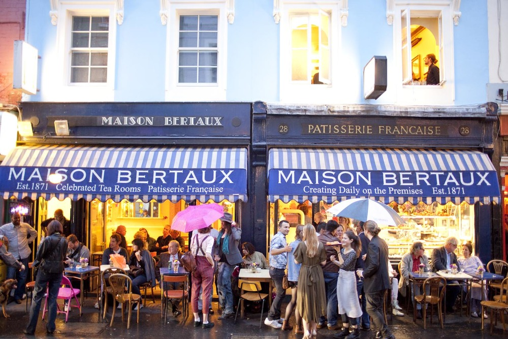 Maison Bertaux in Greek Street, Soho - London's oldest French patisserie.
