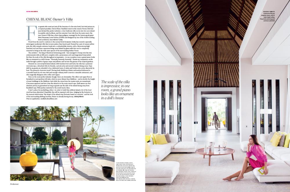The Owner's Villa on LMVH's resort in the Maldives