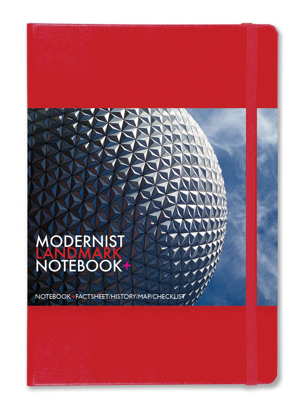 Modernist Landmarks  celebrated in a A3 foldout poster and map plus 190-page notebook