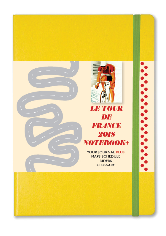 Sports NOTEBOOK+ 2018 Tour de France journal with wraparound map and full schedule of the race