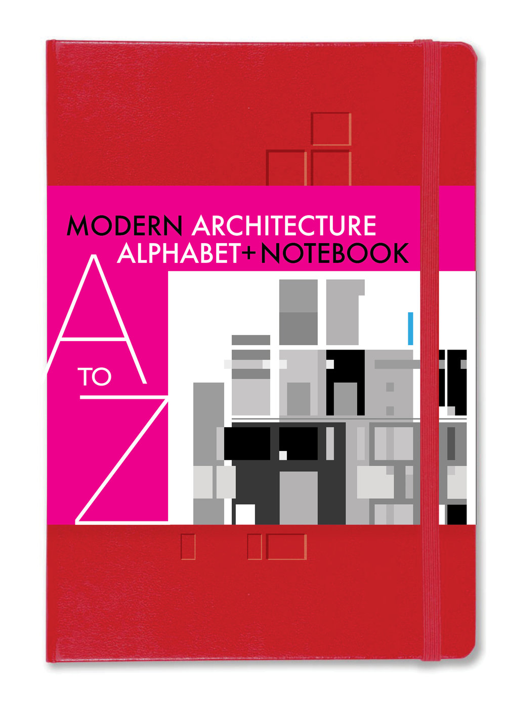 Architecture NOTEBOOK+ with a foldout guide A-Z of modern iconic buildings