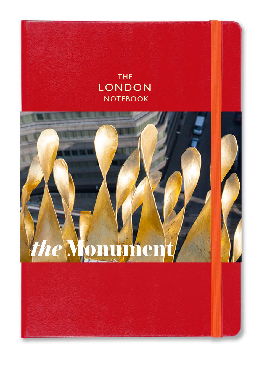 LONDON NOTEBOOK+  with a A3 guide to the Monument commemorating the 1666 Fire of London